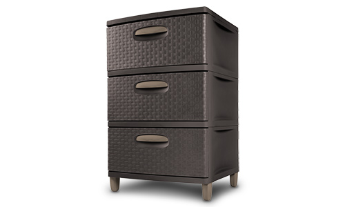 0198 - 3 Weave Drawer Unit