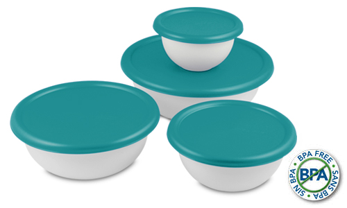 0747 - 8 Piece Covered Bowl Set