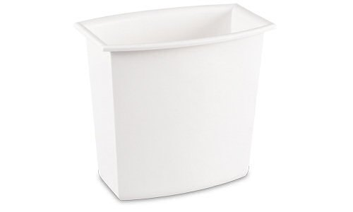 1022 - 2 Gallon Rectangular Vanity Wastebasket