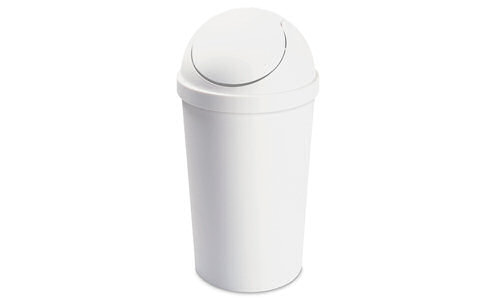 1086 - 10.5 Gallon Round Swing-Top Wastebasket