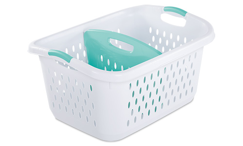 1213 - 2.2 Bushel Divided Laundry Basket