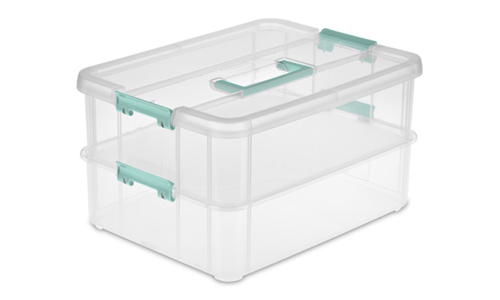 1422 - Stack & Carry 2 Layer Handle Box