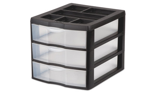 2043 - Medium 3 Drawer Desktop Unit