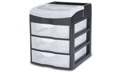 2063 - 3 Drawer Desktop Unit