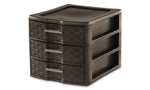 2343 - Medium Weave 3 Drawer Unit