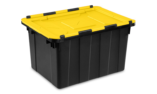 1461 - 12 Gallon Hinged Lid Industrial Tote