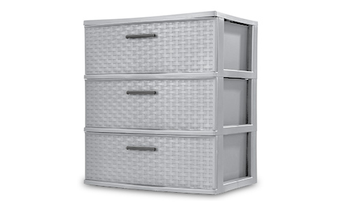 2530 - 3 Drawer Wide Weave Tower