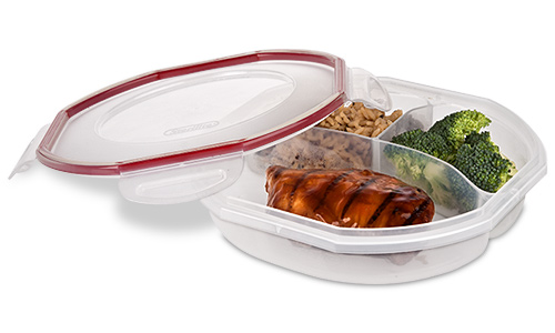 0391 - Ultra•Seal™ 4.8 Cup Round Divided Dish