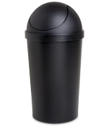 10.5 Gallon Round Swing-Top Wastebasket