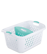 2.2 Bushel/78 Liter Bushel Divided laundry Basket
