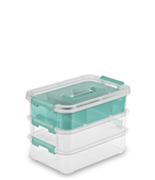 Stack & Carry 3 Layer Handle Box & Tray