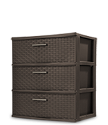 3 Drawer Wide Weave Tower