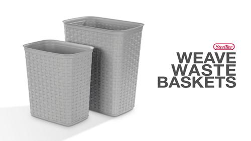 5.8 Gallon Weave Wastebasket