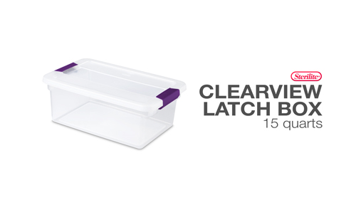 15 Quart ClearView Latch™ Box