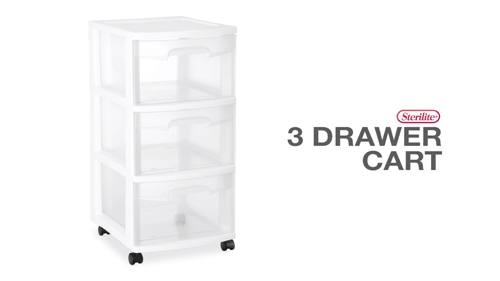 3 Drawer  Cart