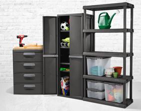 Sterilite 0142 4 Shelf Cabinet, Sterilite Storage Cabinets With Doors And Shelves