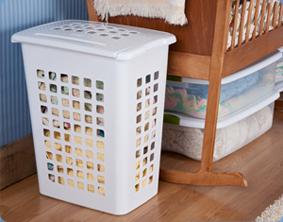sterilite 1223 rectangular lifttop laundry hamper. Black Bedroom Furniture Sets. Home Design Ideas