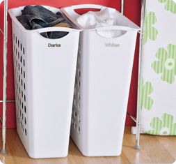 Sterilite 1258 sorting hamper - Whites and darks laundry basket ...