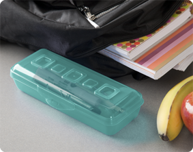 This mini pencil box is ideal for older students to keep pens pencils and erasers neatly contained in a backpack making them always easily accessible. & Sterilite - 1721: Mini Pencil Box Aboutintivar.Com