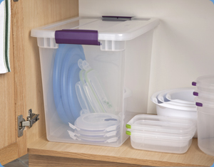Store your food storage containers' lids easily