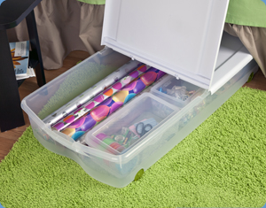 Underbed Gift wrap storage