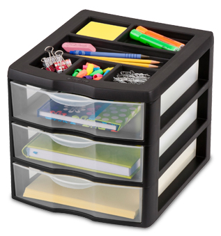October 6 2011 Medium 3 Drawer Desktop Unit Sterilite
