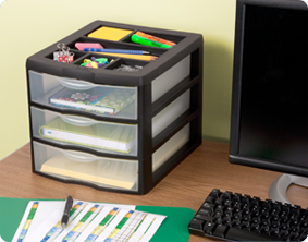 Drawer Units Are Ideal For Organizing Office Or School Supplies On A Desk Or Countertop And The Divided Lid Provides Easy Access To Items Used Most