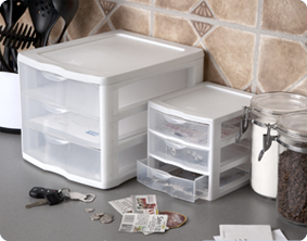Utilize Sterilite Countertop Drawers To Help You Organize Frequently Used Items Such As Paper Pens Mail Keys And More Keeping Your Countertops Free Of