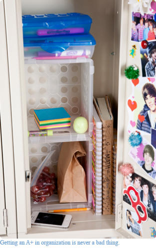 Keep your locker organized