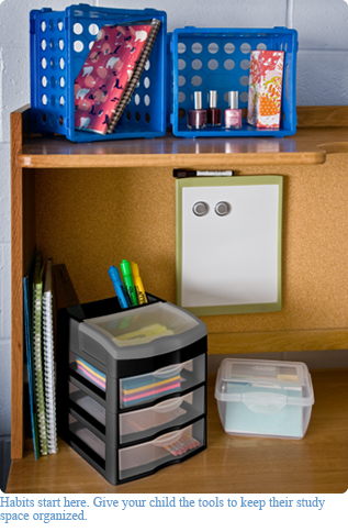 An organized desk is a smart study space