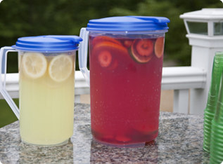 Mix beverages right inside these pitchers