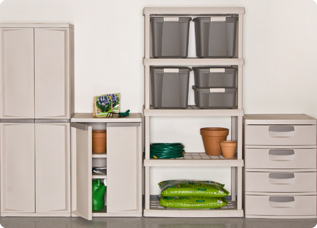 Full Custom Storage Solutions Can Be Created With A Combination Of Totes,  Shelving Units, Drawer Units, And Cabinets That Are Modular And Coordinate  ...