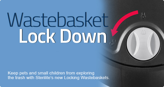 Locking Wastebaskets