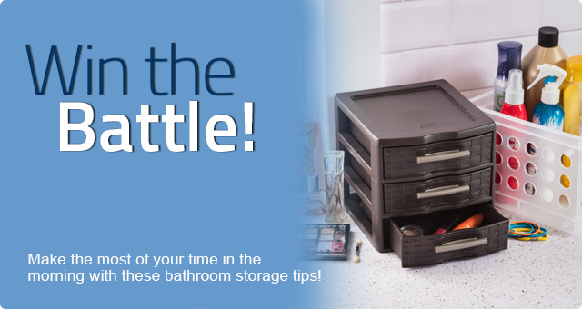 Win the Bathroom Storage Battle!