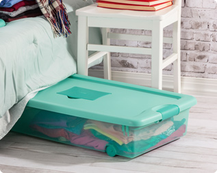 Storing Your Off Season Clothes Under Your Bed Maximizes That Unused Space  And Eliminates The Chaos In Your Closet.