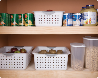 Ultra� baskets in pantry