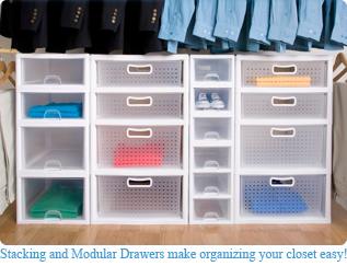 Stacking And Modular Closet Drawers