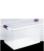 clears - Sterilite Storage Bins
