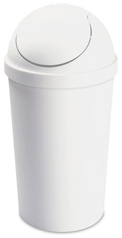 white trash can. 1086 - 10.5 Gallon Round SwingTop Wastebasket White Trash Can A