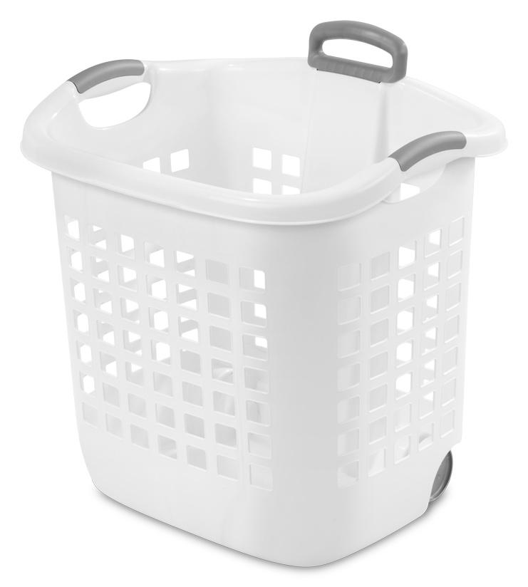 Sterilite 1224 1 75 Bushel Ultra Wheeled Laundry Basket