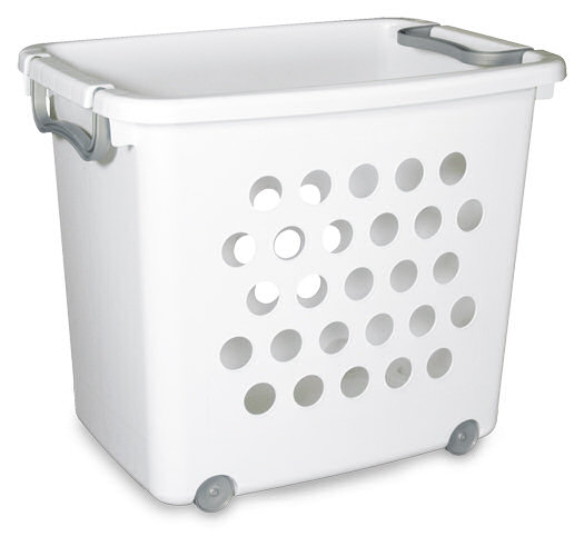 sterilite large ultra wheeled stacking basket