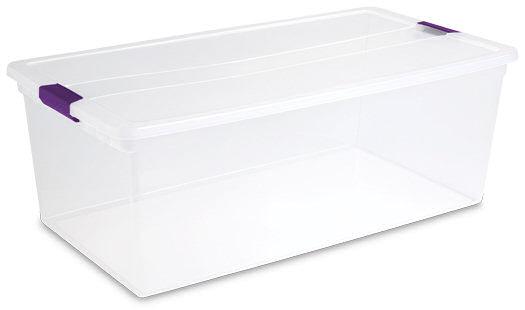 Sterilite 1764 110 Quart ClearView Latch Box