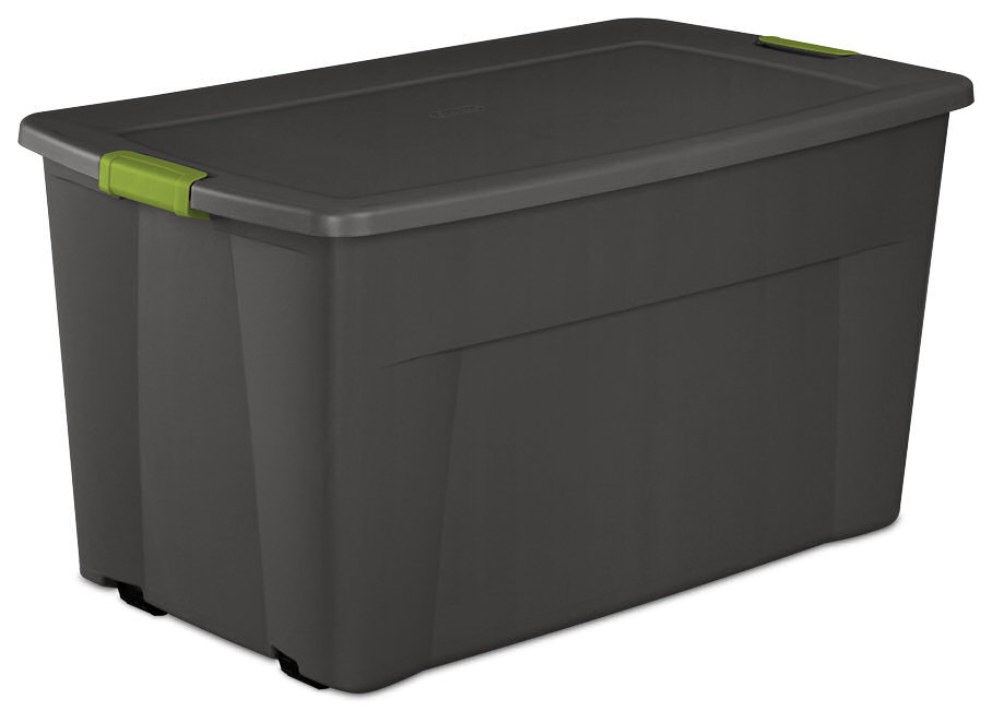 4 sterilite 19481004 45 gallon plastic storage container wheeled latch totes ebay. Black Bedroom Furniture Sets. Home Design Ideas