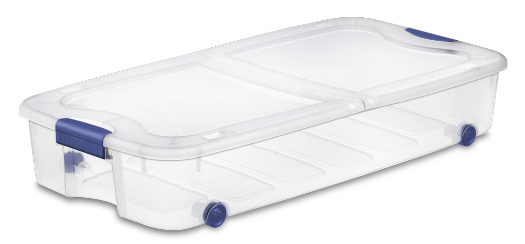 Sterilite 1995 66 Quart Ultra Wheeled Underbed Storage Box