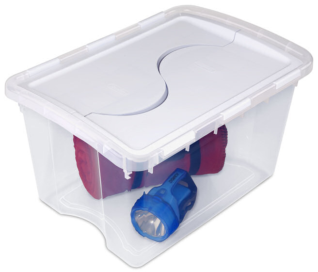 Delicieux 1914   48 Quart Hinged Lid Storage Box, Zoom