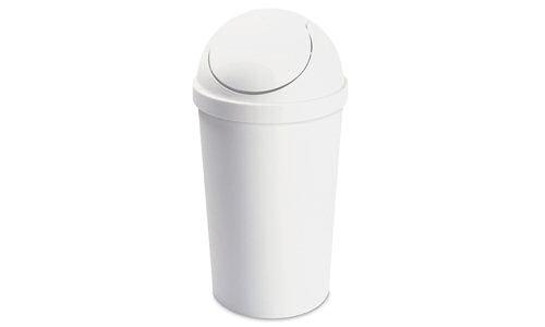Sterilite 1086 10 5 Gallon Round Swingtop Wastebasket