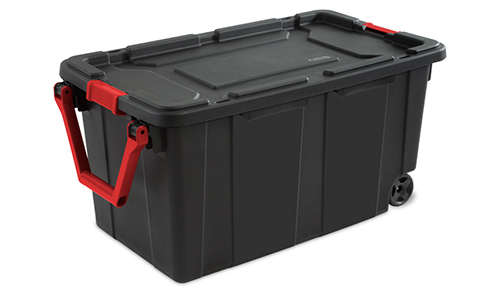 sterilite 1469 40 gallon wheeled industrial tote. Black Bedroom Furniture Sets. Home Design Ideas