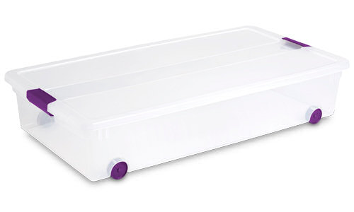 1761 - 60 Quart ClearView Latch™ Wheeled Underbed Box  sc 1 st  Sterilite & Sterilite - 1761: 60 Quart ClearView Latch™ Wheeled Underbed Box