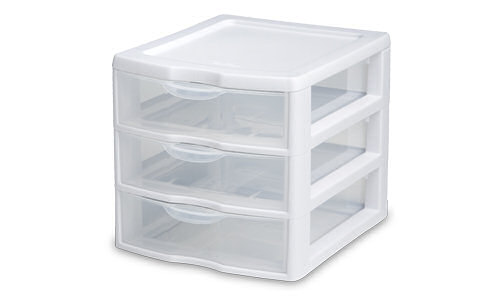 2073 - ClearView™ Small 3 Drawer Unit
