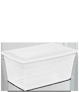 90 Quart Storage Box & Sterilite - Home: Clears